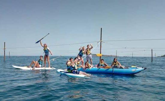 летен лагер и морски каяци