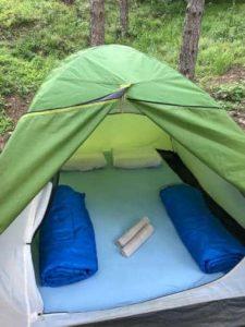 нощувка на палатка в рафтинг база