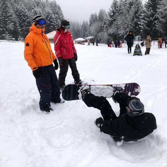 сноуборд урок, сноуборд училище